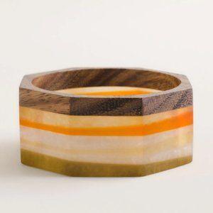 New Chico's Wide Stripe Octagon Bangle Bracelet